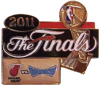 2011 NBA Finals Heat vs Mavericks Dueling Pin