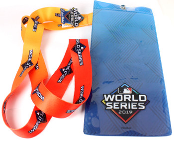 """2019 World Series Lanyard w/ Ticket Holder & """"I Was There"""" Pin"""