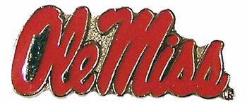 Mississippi Ole Miss Logo Pin