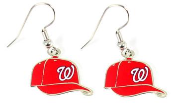 Washington Nationals Cap Earrings