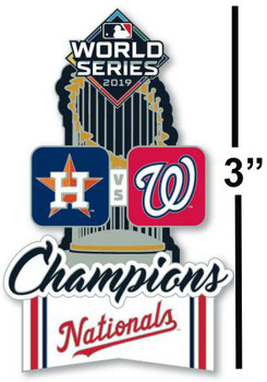 Washington Nationals 2019 World Series Champs Trophy Pin