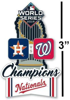 Washington Nationals 2019 World Series Champs Trophy Pin