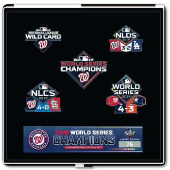 Washington Nationals 2019 World Series Champs Five Pin Collector Set - Limited 5,000
