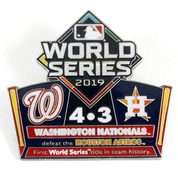 2019 World Series Commemorative Pin - Nationals vs. Astros