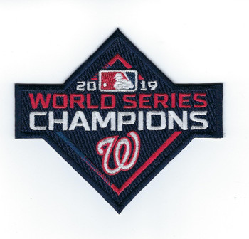 Washington Nationals 2019 World Series Champions PATCH - 4""