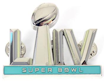 """Super Bowl LIV (54) Oversized 3-D Logo Jumbo Pin - 2"""""""