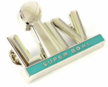Super Bowl LIV (54) Oversized 3-D Logo Jumbo Pin - 2""