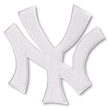 "New York Yankees NY Logo 4"" Embroidered Emblem Patch - White"