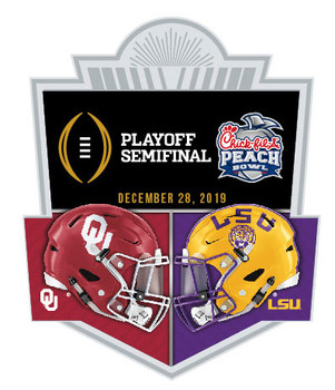 2019 Peach Bowl Dueling Pin - Oklahoma vs. LSU