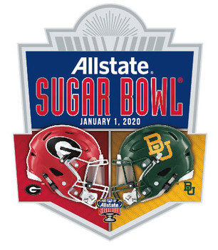 2020 Sugar Bowl Dueling Pin - Oklahoma vs. LSU