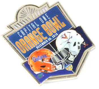 2019 Orange Bowl Dueling Pin - Florida vs. Virginia