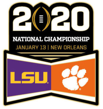 2020 BCS National Champions Ship Game Pin - LSU vs. Clemson