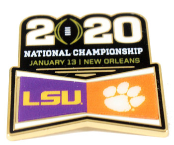 2020 BCS National Champion Dueling Pin - LSU vs. Clemson