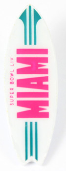 Super Bowl LIV (54) Miami Surf Board Pin