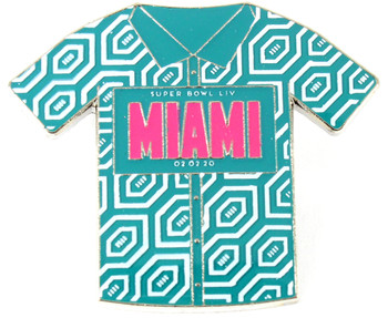 Super Bowl LIV (54) Miami Shirt Pin