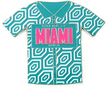 Super Bowl LIV (54) Miami Shirt Pin