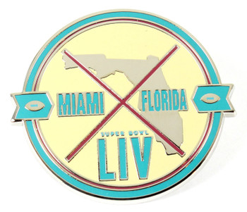 Super Bowl LIV (54) Miami Florida Patch Pin