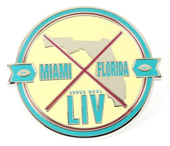 Super Bowl LIV (54) Miami Florida Patch Pin