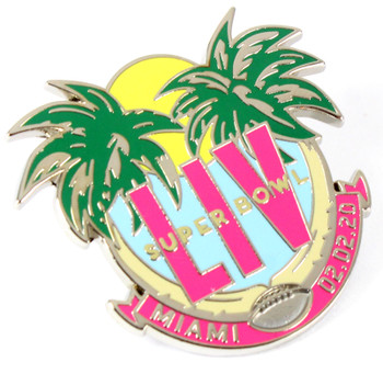 Super Bowl LIV (54) Palm Trees Pin