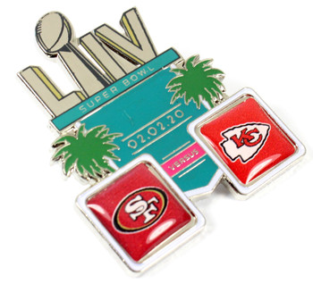 Super Bowl LIV (54) Head To Head Pin - 49ers vs. Chiefs