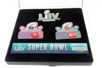 Super Bowl LIV (54) Head To Head Pin Set - 49ers vs. Chiefs - Limited 5,000