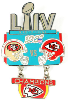 Super Bowl LIV (54) Oversized Commemorative Pin - Dangler