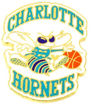 Charlotte Hornets Vintage Logo Pin - 1989