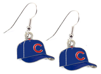 Chicago Cubs Baseball Cap Earrings