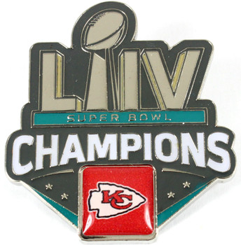 Kansas City Chiefs Super Bowl LIV (54) Champions Pin - 2""