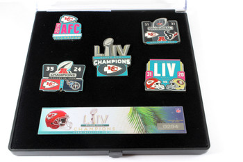 Kansas City Chiefs Super Bowl LIV (54) Champions Five Pin Set - Limited 5,000