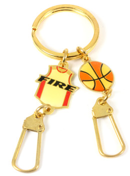 Portland Fire Charm Key Chain