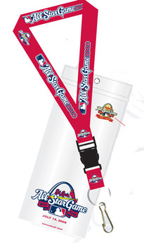 """2009 MLB All-Star Game Lanyard w/ Ticket Holder & """"I Was There"""" Pin"""