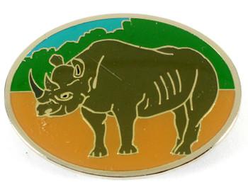 Rhinoceros Metal Magnet