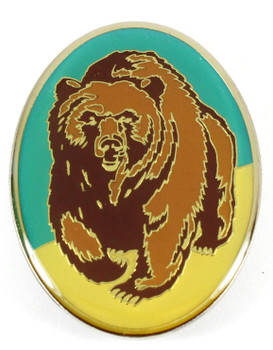 Grizzly Bear Metal Magnet