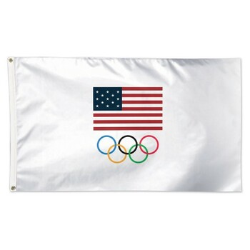 2020 Tokyo Olympics Team USA Five Rings Flag 3'x5'