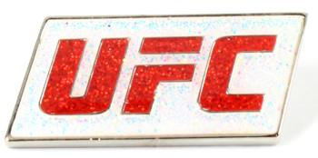 UFC Red Glitter Logo Pin