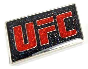 UFC Black Glitter Enamel Pin