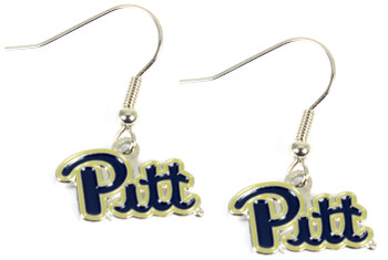 """Pittsburgh """"Pitt"""" Earrings"""