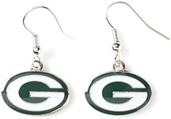 Green Bay Packers Silver Earrings