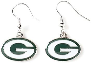 Green Bay Packers Silver Earrings