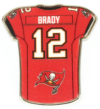 Tom Brady Tampa Bay Buccaneers Jersey Pin
