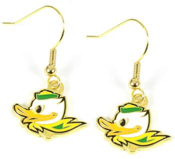 Oregon Fighting Ducks Earrings