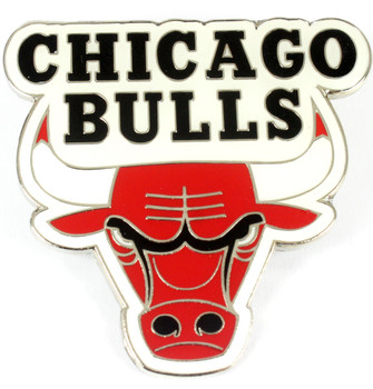 Chicago Bulls GRANDE Logo Pin - 2""