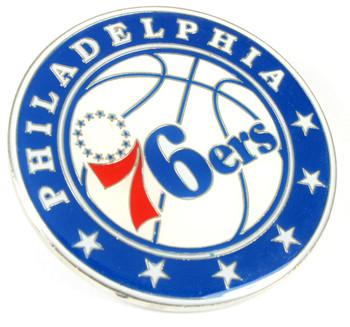"Philadelphia 76ers GRANDE Logo Pin - 2"""
