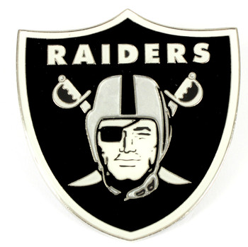 Oakland Raiders GRANDE Logo Pin - 2""