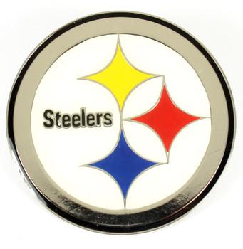 "Pittsburgh Steelers GRANDE Logo Pin - 2"""