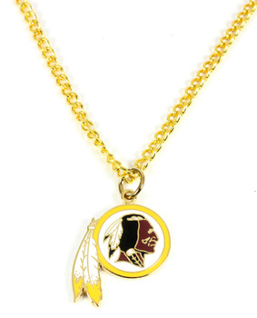 Washington Redskins Logo Necklace - Gold