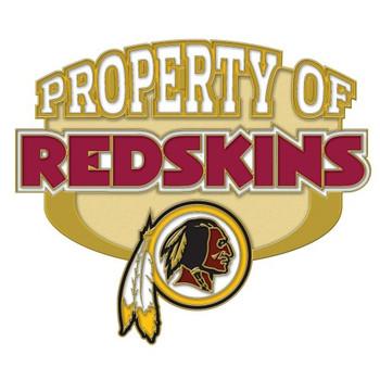 Washington Redskins Property Of Pin