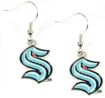 Seattle Kraken Dangle Earrings
