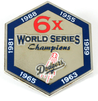 Los Angeles Dodgers 6-Time World Series Champions Pin - Limited 1,000
